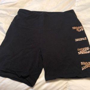 Pink Victoria secret yoga shorts